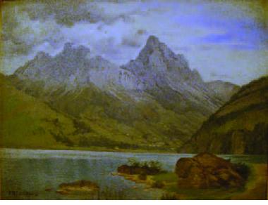 Die Tellskapelle am Vierwaldstätter See,1870