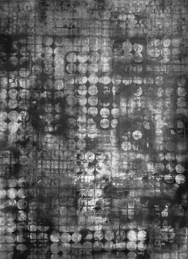Spektrum, 2019, Bleistift und Graphit auf Leinwand, 50 x 145 cm