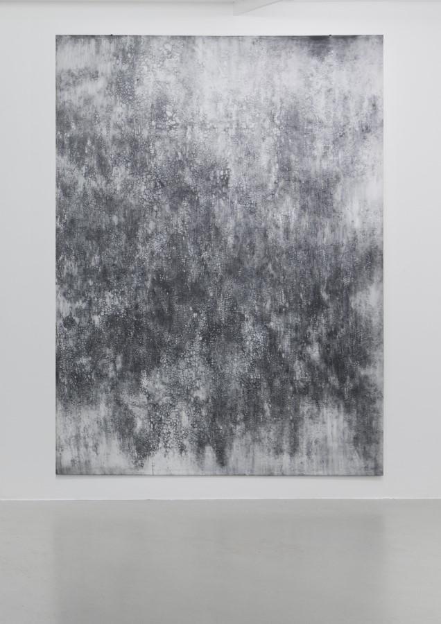 Virga, 2015, Bleistift und Graphit auf Leinwand, 240 cm x 175 cm